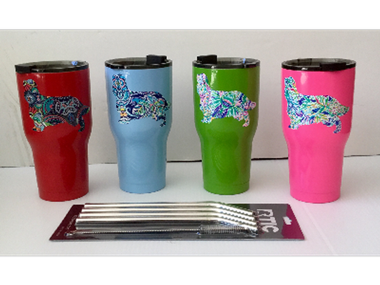 Cavalier Embellished Stainless Steel, Insulated Tumblers
