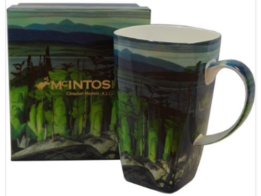 A McIntosh Grande art mug plus a $25 gift certificate donated by General Brock's Commissary.