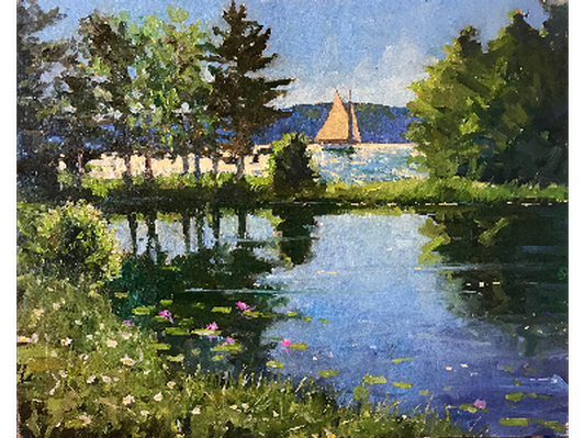 """""""Sailing Off Oak Point' by Brad Betts"""