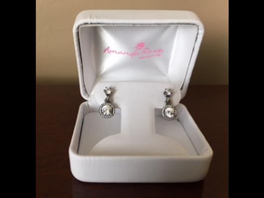 Pandora Sterling Silver Drop Earrings