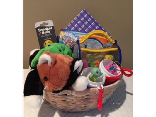 Toy Basket with Beanie Babies