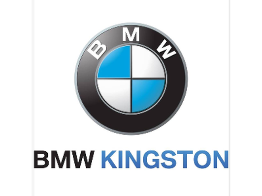 Large umbrella with logo donated by BMW Kingston