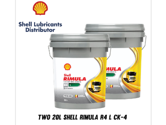 Two (2) 20L - Shell Rimula R4 CK4