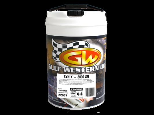 20 Litre Drums SYN X 3000 10W40   Gulf Western Oil