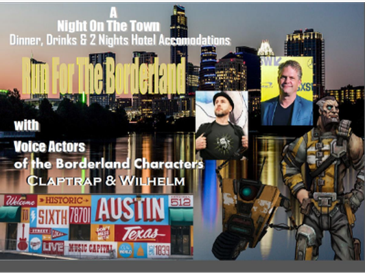 Run for the Borderlands, Night out on the town in Austin, TX with actors from Borderlands, Two Nights stay, Bar Hopping and Dinner