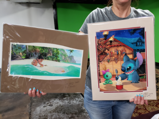 Lilo & Stitch and Moana Disney Prints by D Bolly Arts