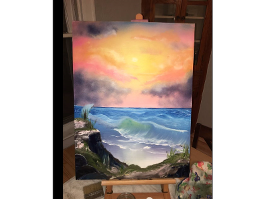 Sunset Seascape - One-of-a-kind Oil on Canvas!