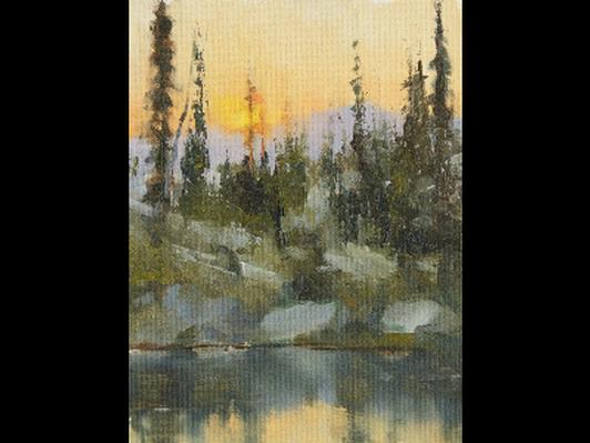 Sunrise on Horseshoe Lake.