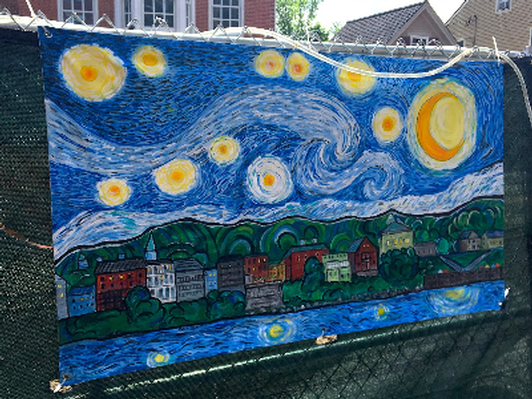 Starry Starry Night Over Hallowell