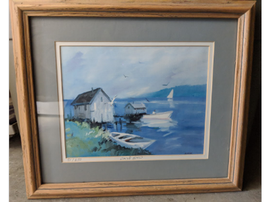 Set of 2 hand painted Maine scenes