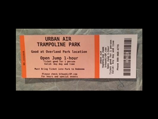 Urban Air Trampoline Park - 2 Tickets