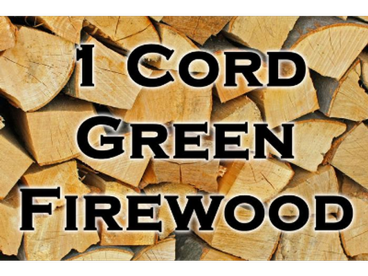 1 cord of green wood, cut and split