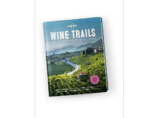 Lonely Planet 'Wine Trails' Hardcover Book + 2 Darden Wine Glasses