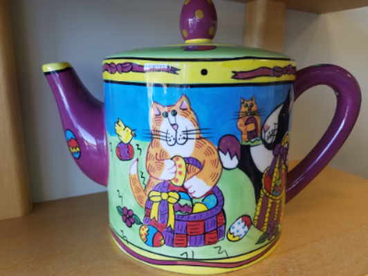 Catzilla Teapot by Candace Reiter Designs