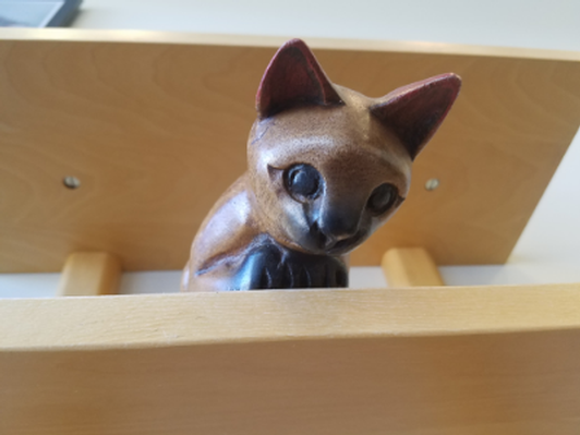 """Shelf-Sitting"" Wooden Kitty"
