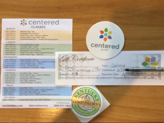 Centered of Lex - Sauna + 1 Class Gift Card