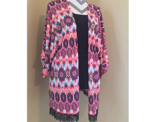 Pink Kimono from Barefoot Threads Size XL