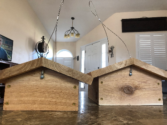 Hand Crafted Large & Small Bird Feeders