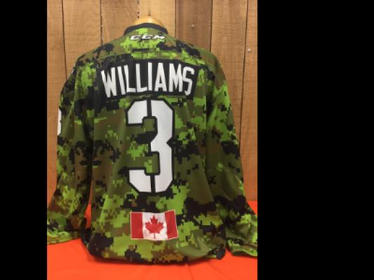 Tyler Williams #3 Game Worn Jersey