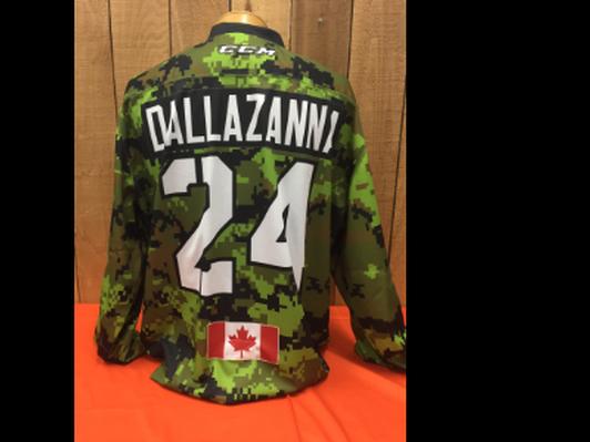 Zack Dallazanna #24 Game Worn Jersey