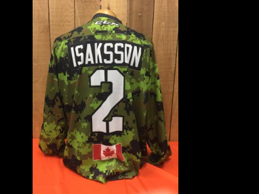 Trevor Isaksson #2 Game Worn Jersey