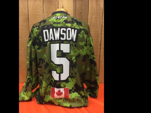Jordan Dawson #5 Game Worn Jersey