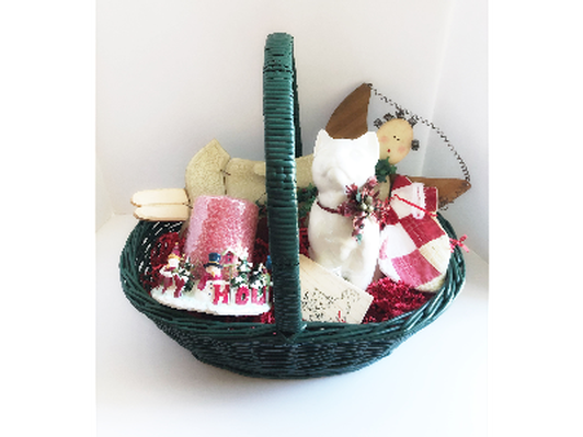 Holiday Cat Basket