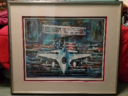 """Large Framed Print - """"Manned Flight - 100 Years"""""""
