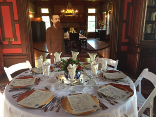 Dinner for 8 inside Pine Lodge Mansion
