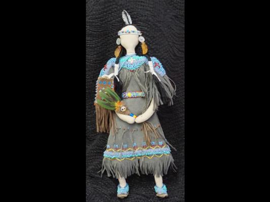 Beaded Native Doll