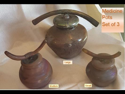 Medicine Pots - Set of 3