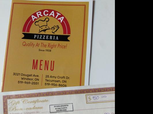 Arcata Pizzeria $50 Gift Certificate