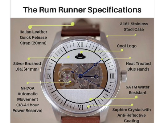 Rum Runners Watch from Border City Style