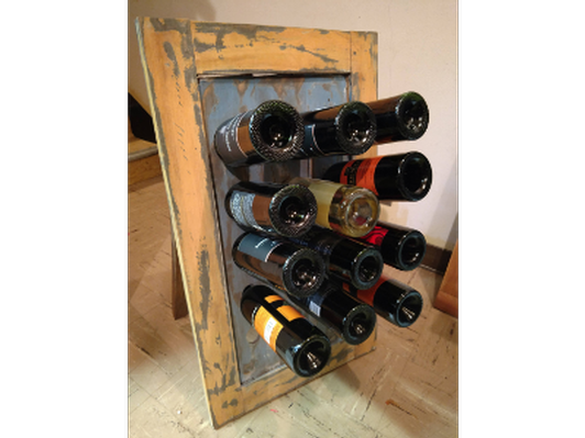 Wine rack Easel filled with wine