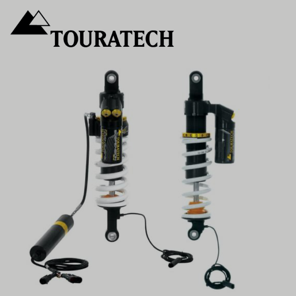 Touratech Plug & Travel Dynamic Suspension Set (front & rear shocks) BMW R1250 / R1200GS / ADV 2013-On (Water-cooled)