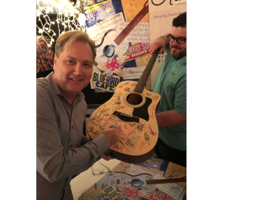 2019 Alive at the Bluebird concert series autographed Acoustic Guitar
