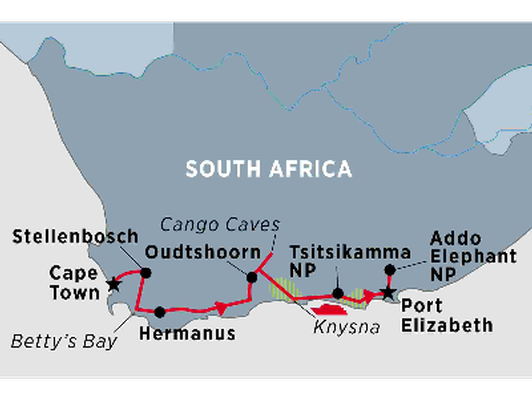 SOUTH AFRICA, 6 night tour in the Garden Route