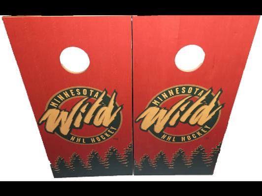 MN Wild Cornhole Boards