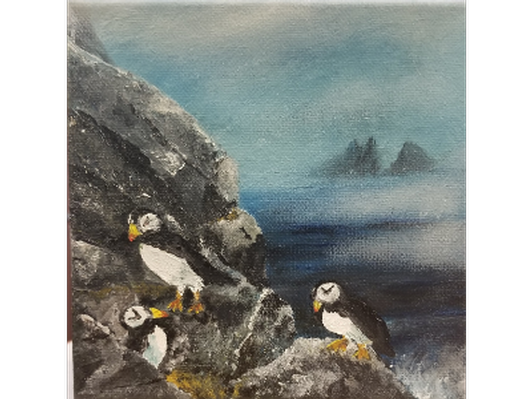 Puffins by Patti Hutchens Jouppi