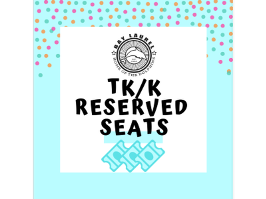 Reserved Seating for 2 at TK/K End-of-Year Performance