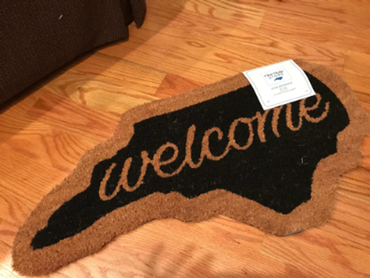 Welcome Mat - North Carolina Shape