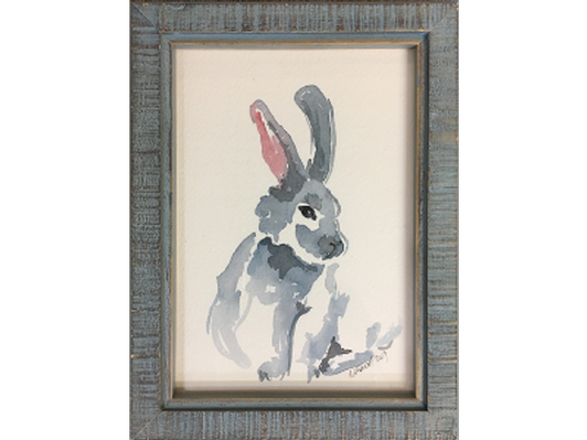 Bunny in Blue by Mariska Kavich