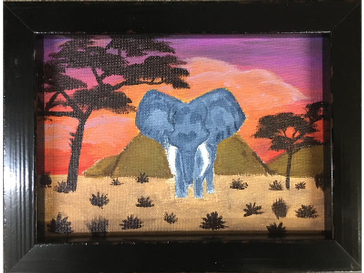 Elephant Sunset by Allison Hufford