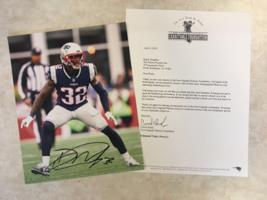 New England Patriot Devin McCourty Autographed Photo