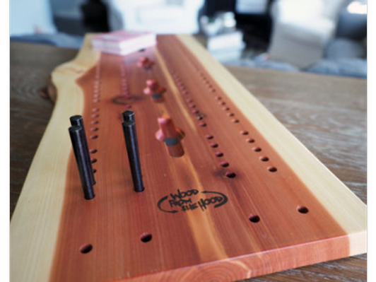 Red Cedar Cribbage Board - made by Wood from the Hood