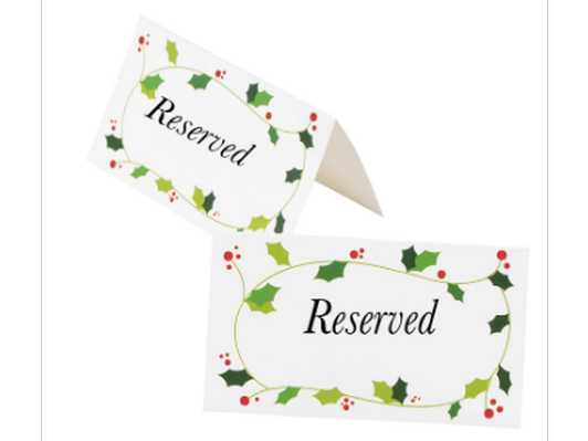 Holiday Program Reserved Seating For Two