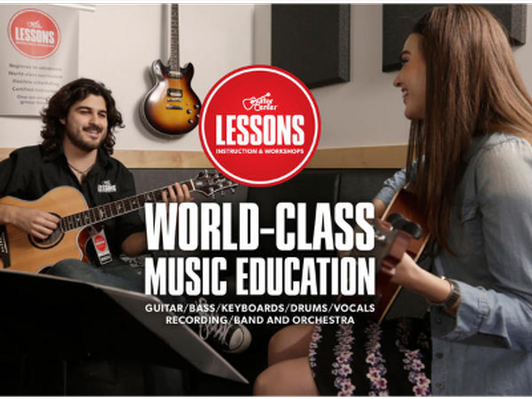 2 x 30min private lessons at Guitar Center