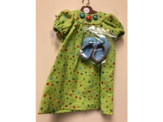Green Nightdress Doll Outfit