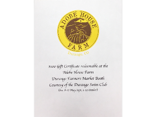 Adobe Farms Farmer's Market Gift Certificate