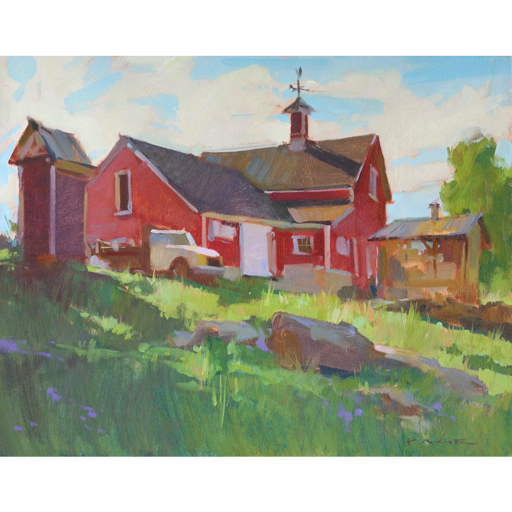 """Colin Page Oil Painting - """"Bok Farm"""""""
